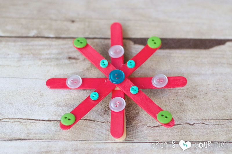 Christmas snowflakes craft