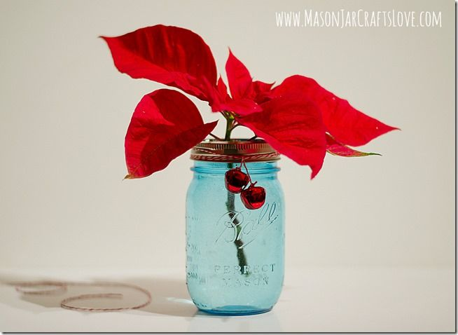 Christmas-themed Mason jar