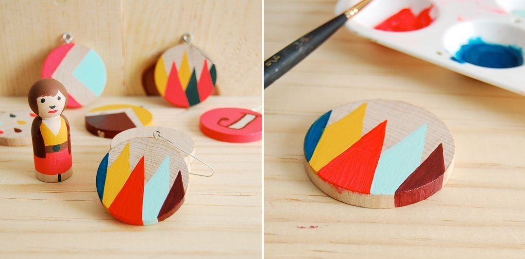 Christmas tree ornaments from wood