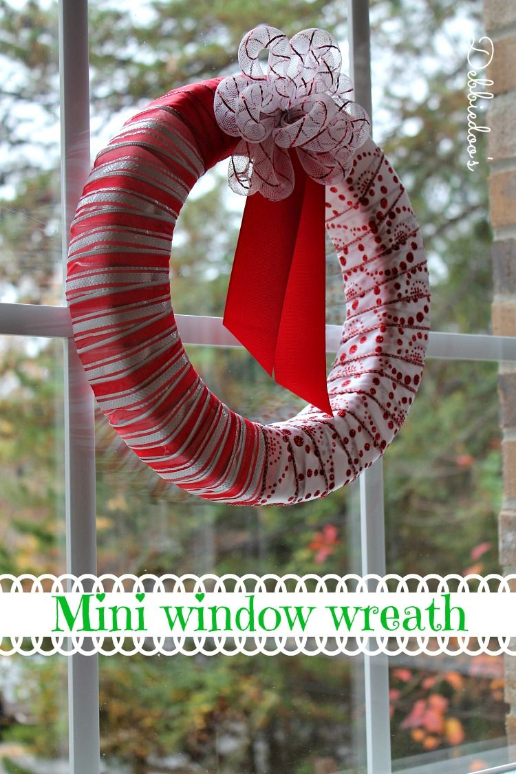 Christmas window wreath