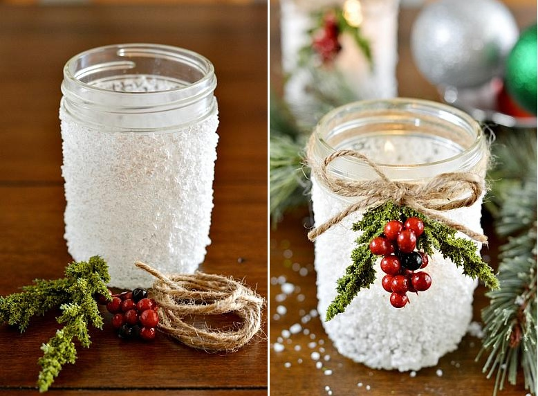 Christmassy Mason jar crafts