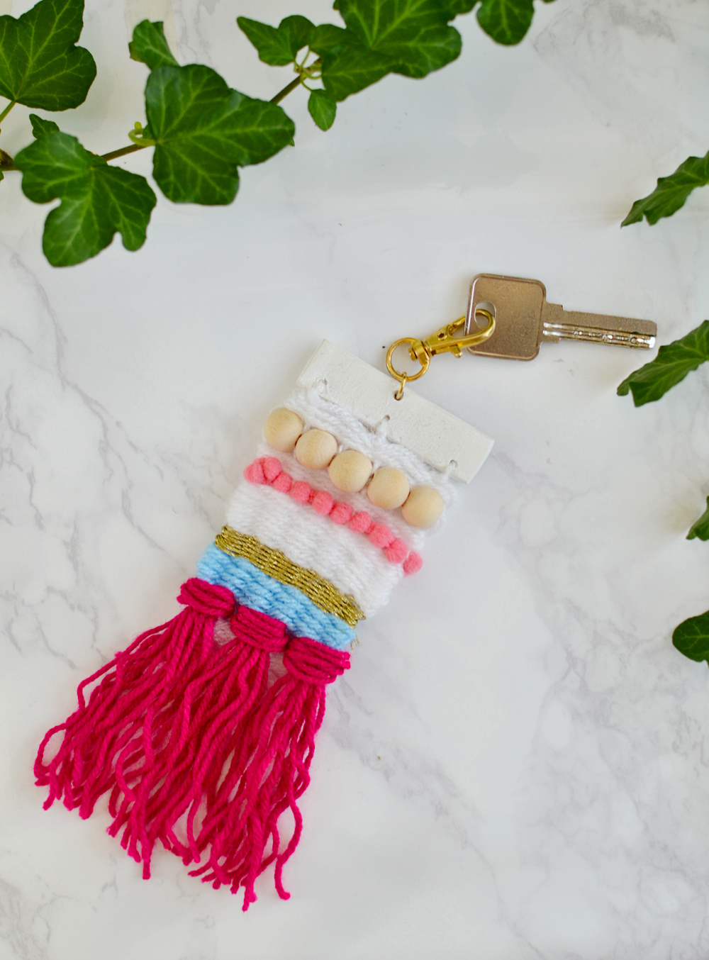 Colorful DIY Woven Keychain
