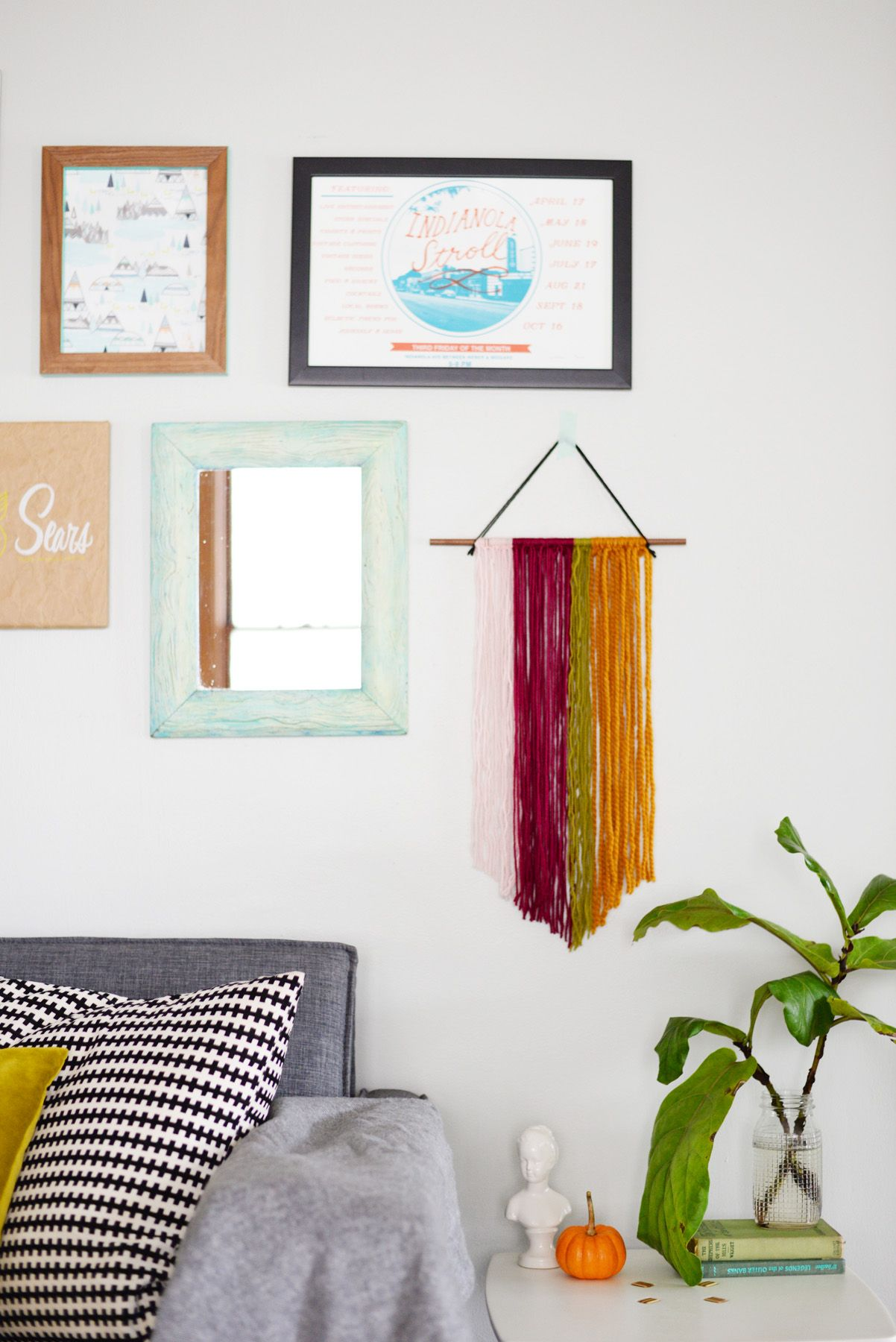 Colorful Yarn Wall Art
