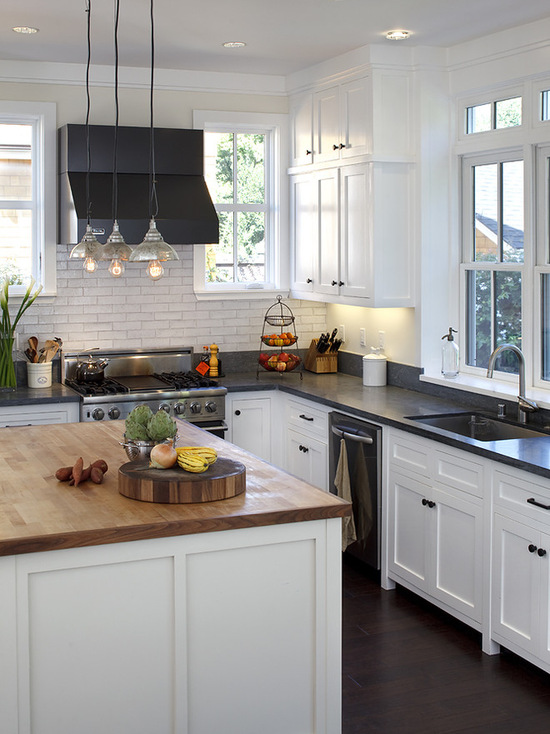 Contemporary Charm with Butcher Block countertop