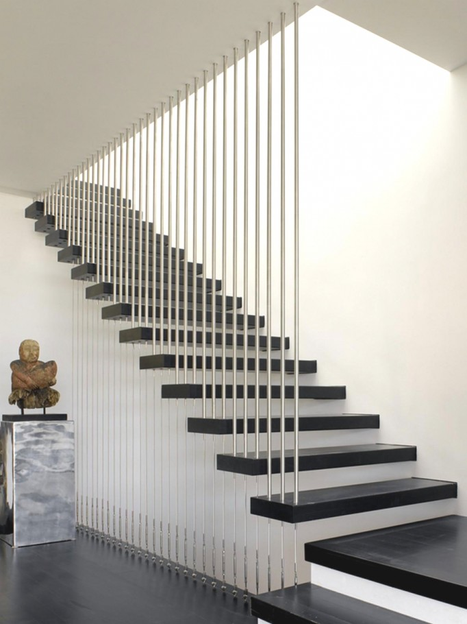Contemporary Metal Rods For Staircase Guard