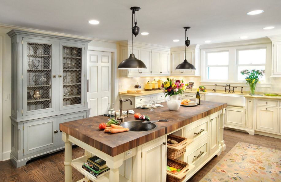 white butcher block kitchen island 20 examples of stylish butcher block countertops 1750