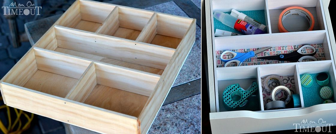 Craft room drawer organizer