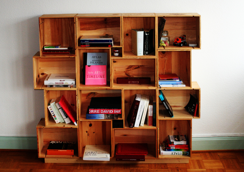 Create Modular Shelving Using Crates