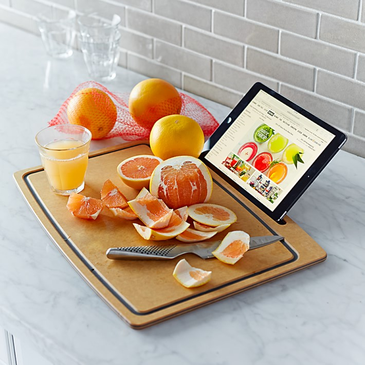 Cutting Board with iPad