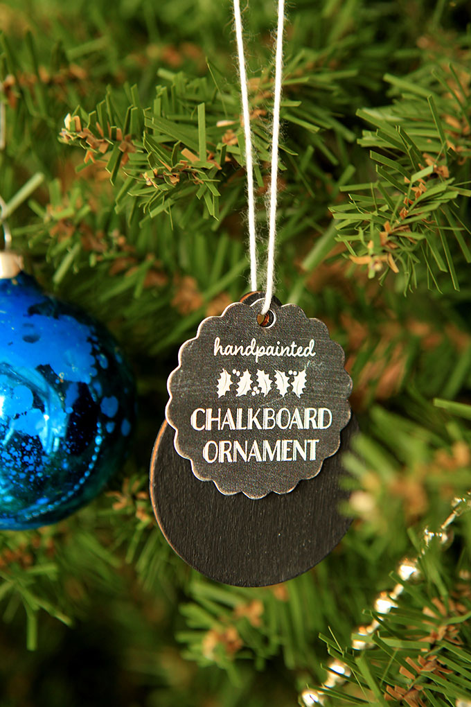 DIY Chalkboard Ornaments for Tree