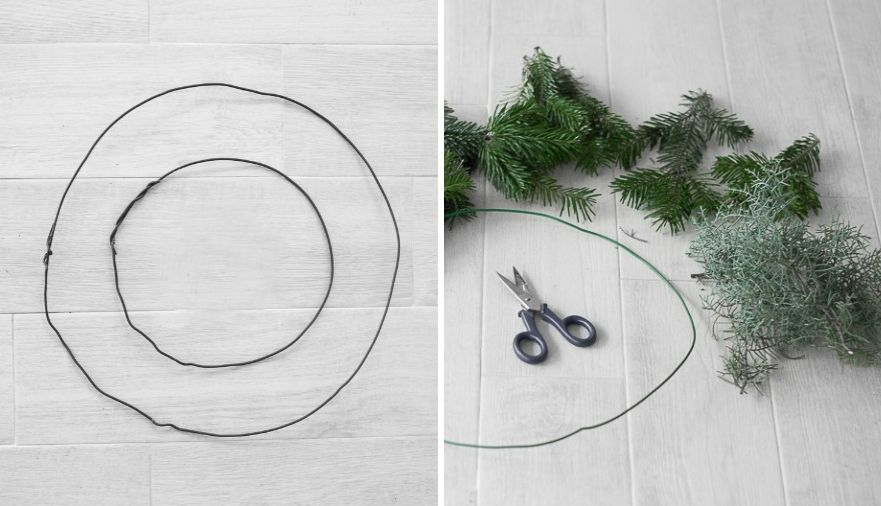 DIY Christmas Chandelier Prepare the Wire