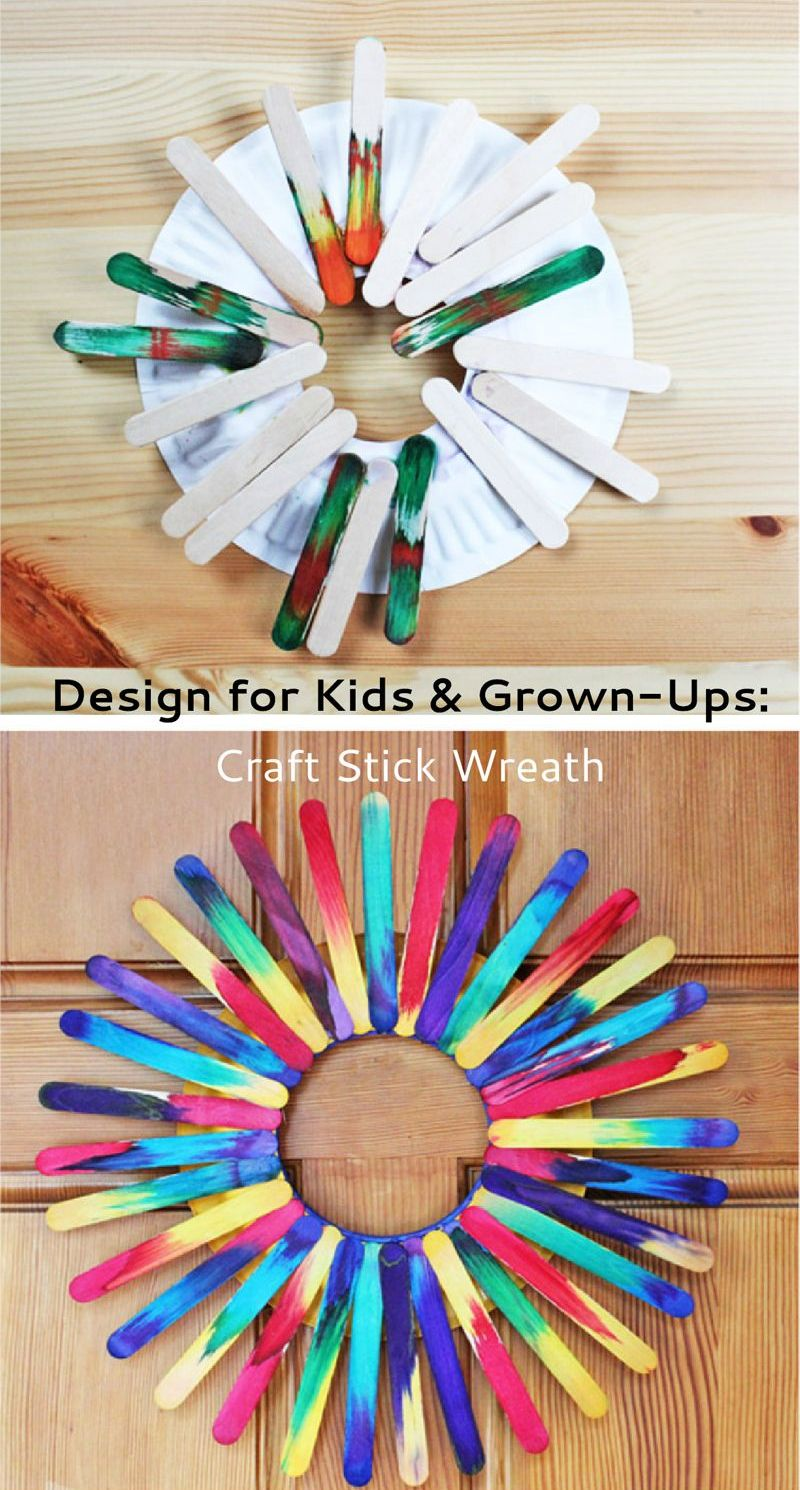 DIY Craft Stick Wreath