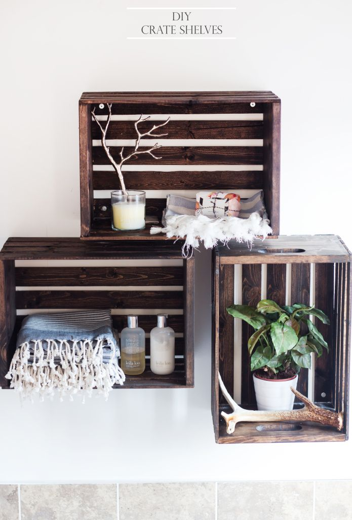 60 ways to make diy shelves a part of your home 39 s d cor for Mini etagere salle de bain
