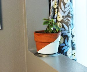 Geometric Painted Planter – Quick & Easy DIY