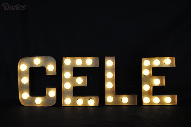 DIY Lighted Marquee Letter