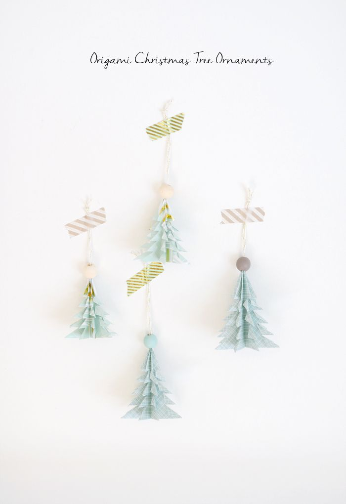 DIY Origami Christmas Tree Ornaments