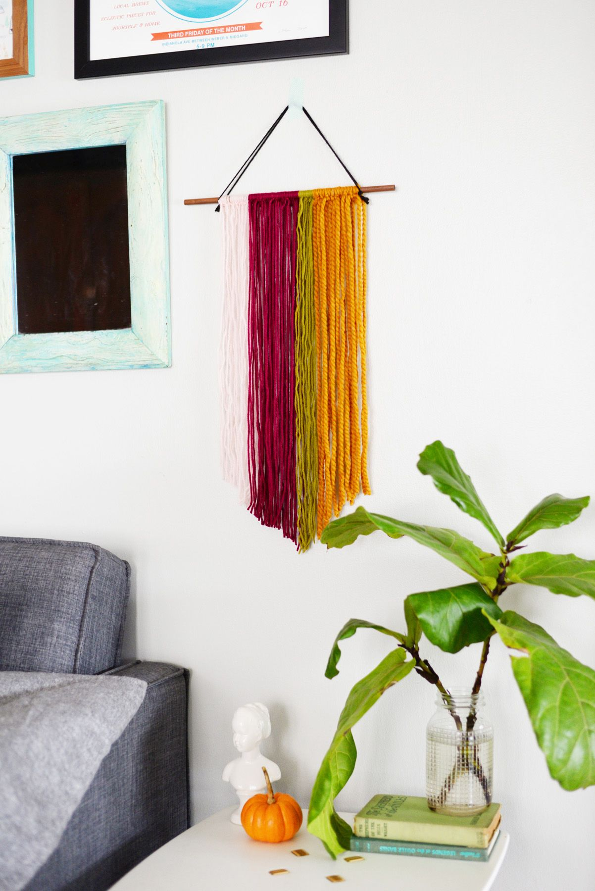 DIY String Wall Art Angle View
