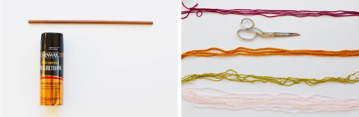 DIY String Wall Art Instructions - step 1