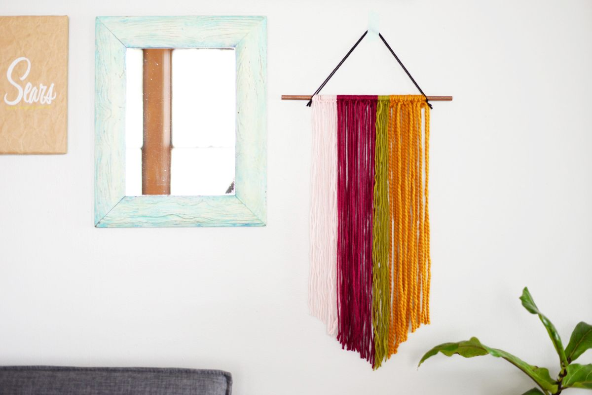 DIY String Wall Art Colorful