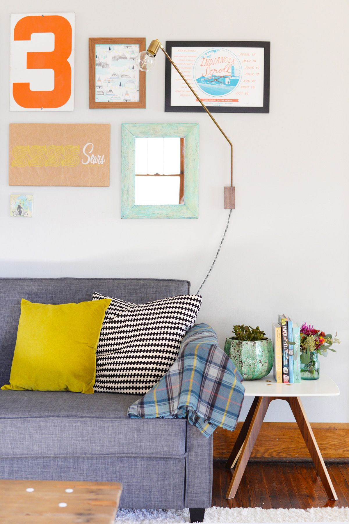 DIY Swing Sconce Lamp