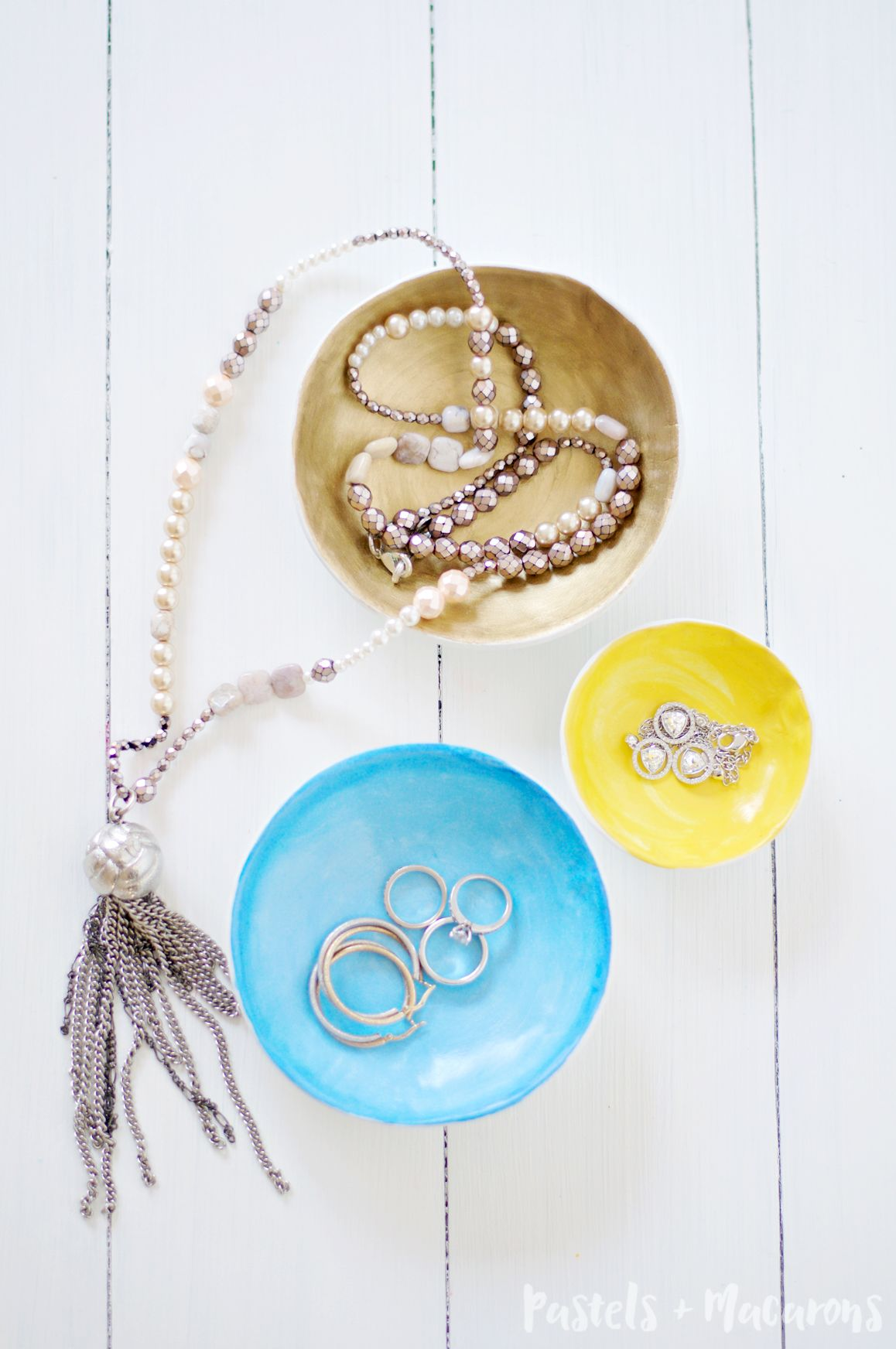 DIY air dry clay jewellery bowls