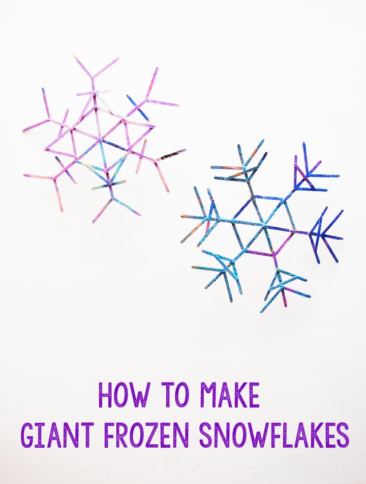 DIY frozen snowflakes