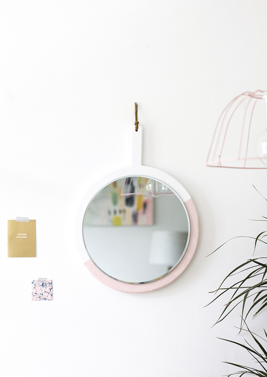 DIY hanging wall mirror