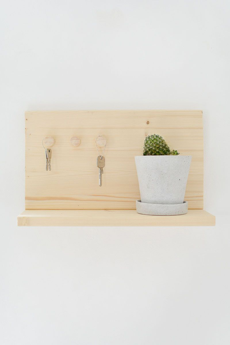 DIY key shelf