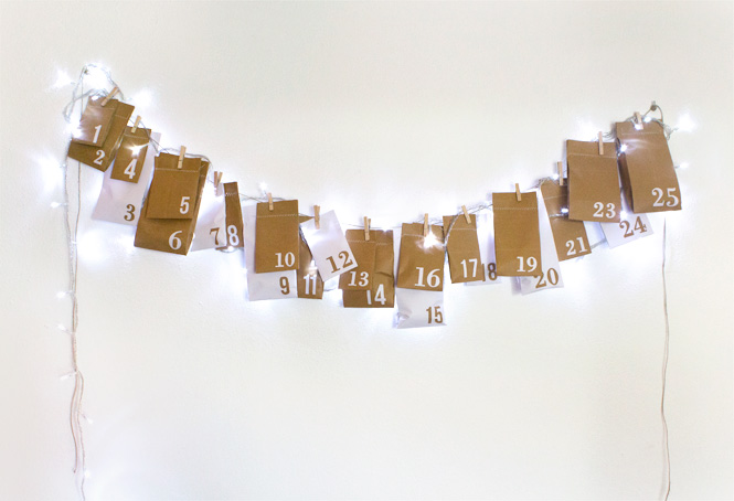 DIY upcycled advent calendar - Christmas