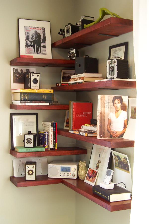 Design corner shelves