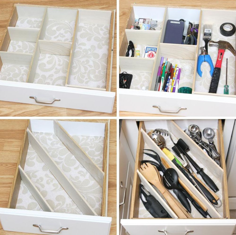 Drawer dividers can be used in different ways