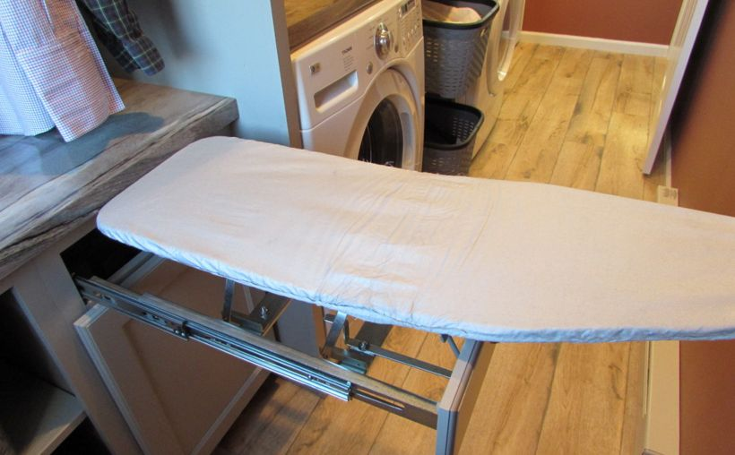 Drawer Ironing Board Pull And Fold Open
