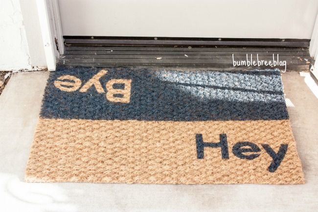 Duel greeting welcome mat