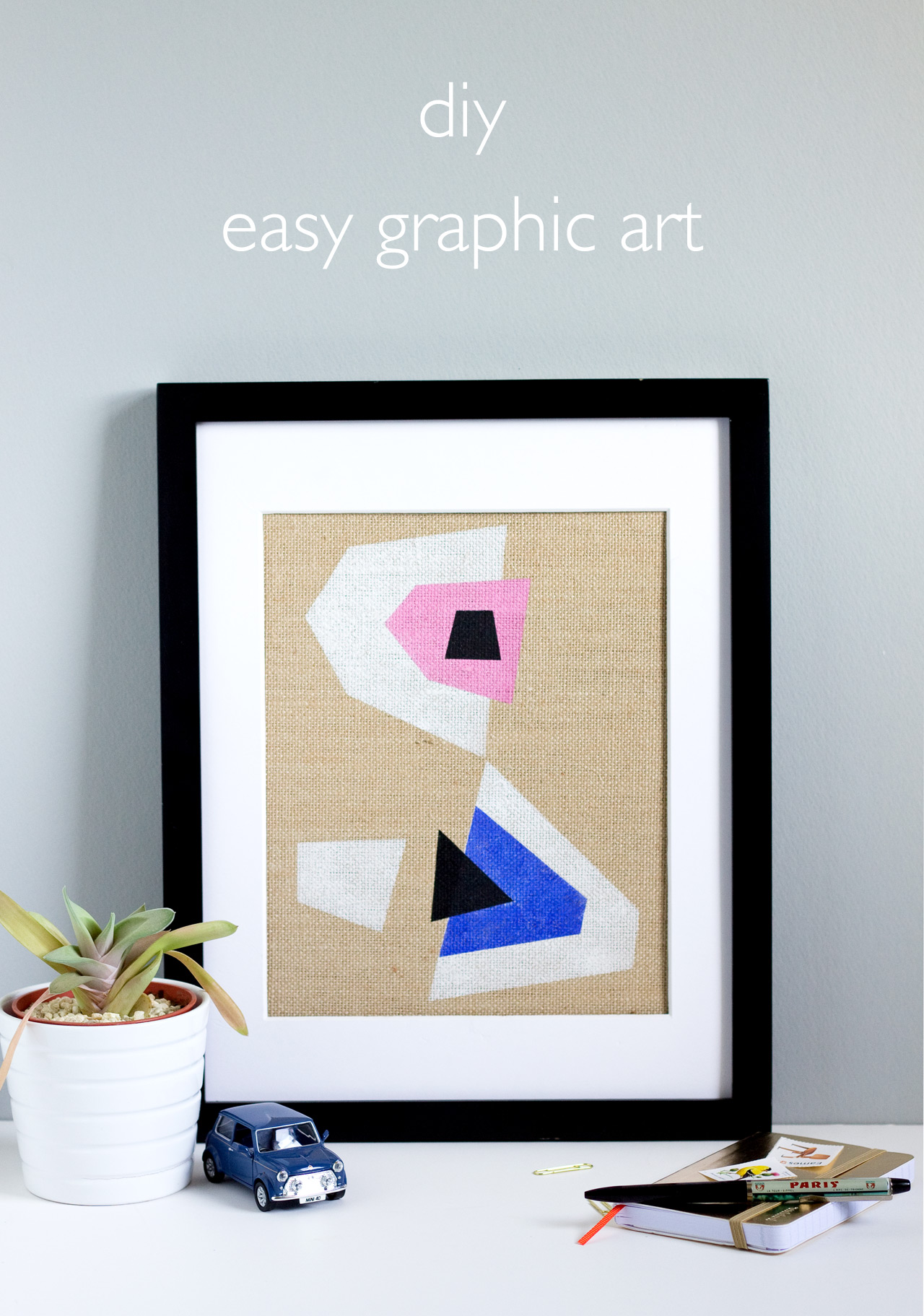 Easy burlap framed art