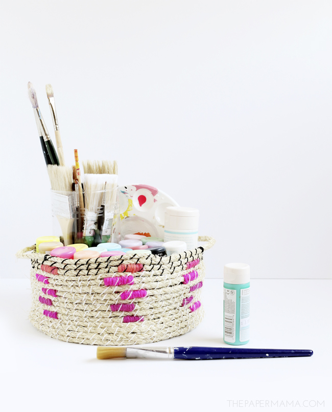 Easy wooven rope basket