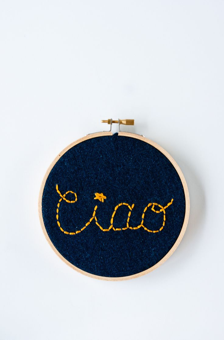 Embroidery hoop gallery wall
