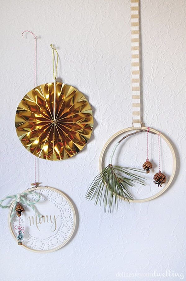 Embroidery hoops Christmas Tree Ornaments