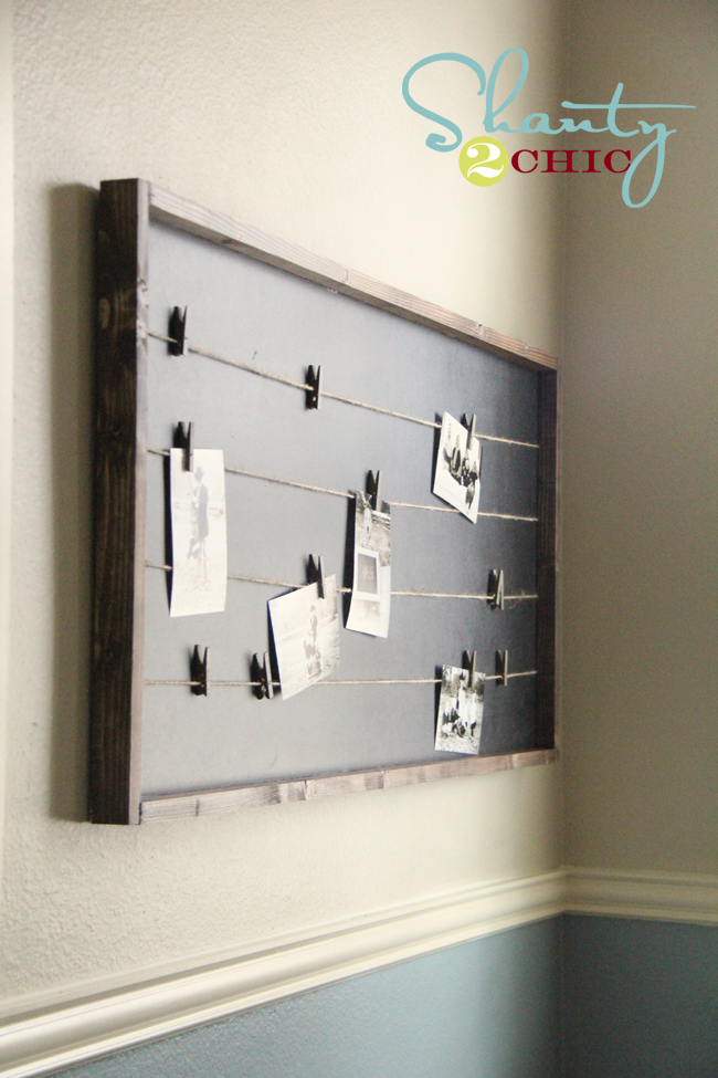 Family memo board DIY
