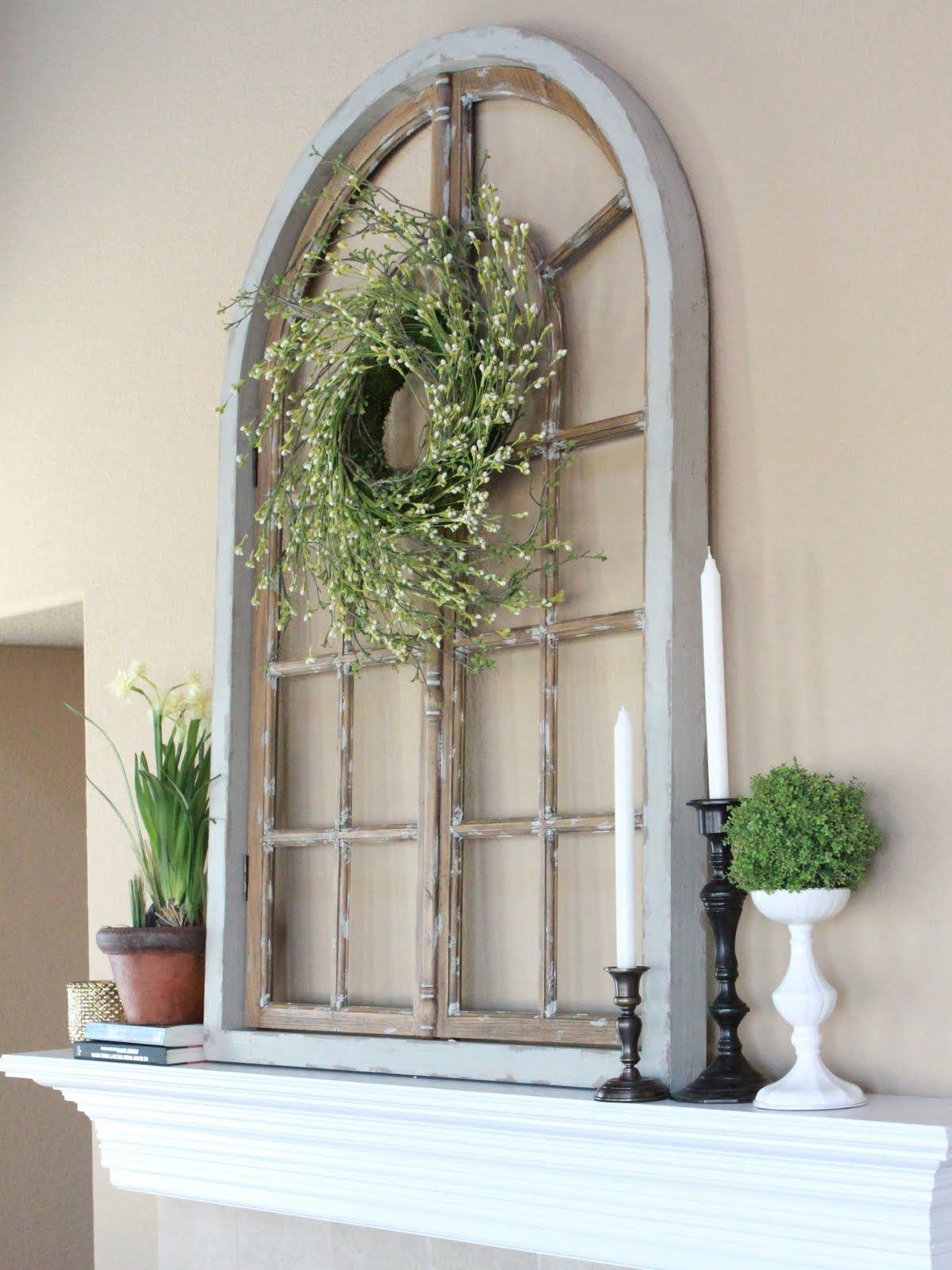 20 different ways to use old window frames for Arch window decoration