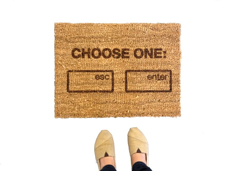 Geeky welcome mat