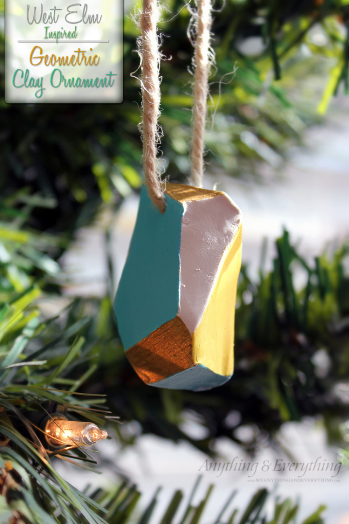 100 diy christmas decorations that will fill your home with joy geometric clay ornaments solutioingenieria Choice Image