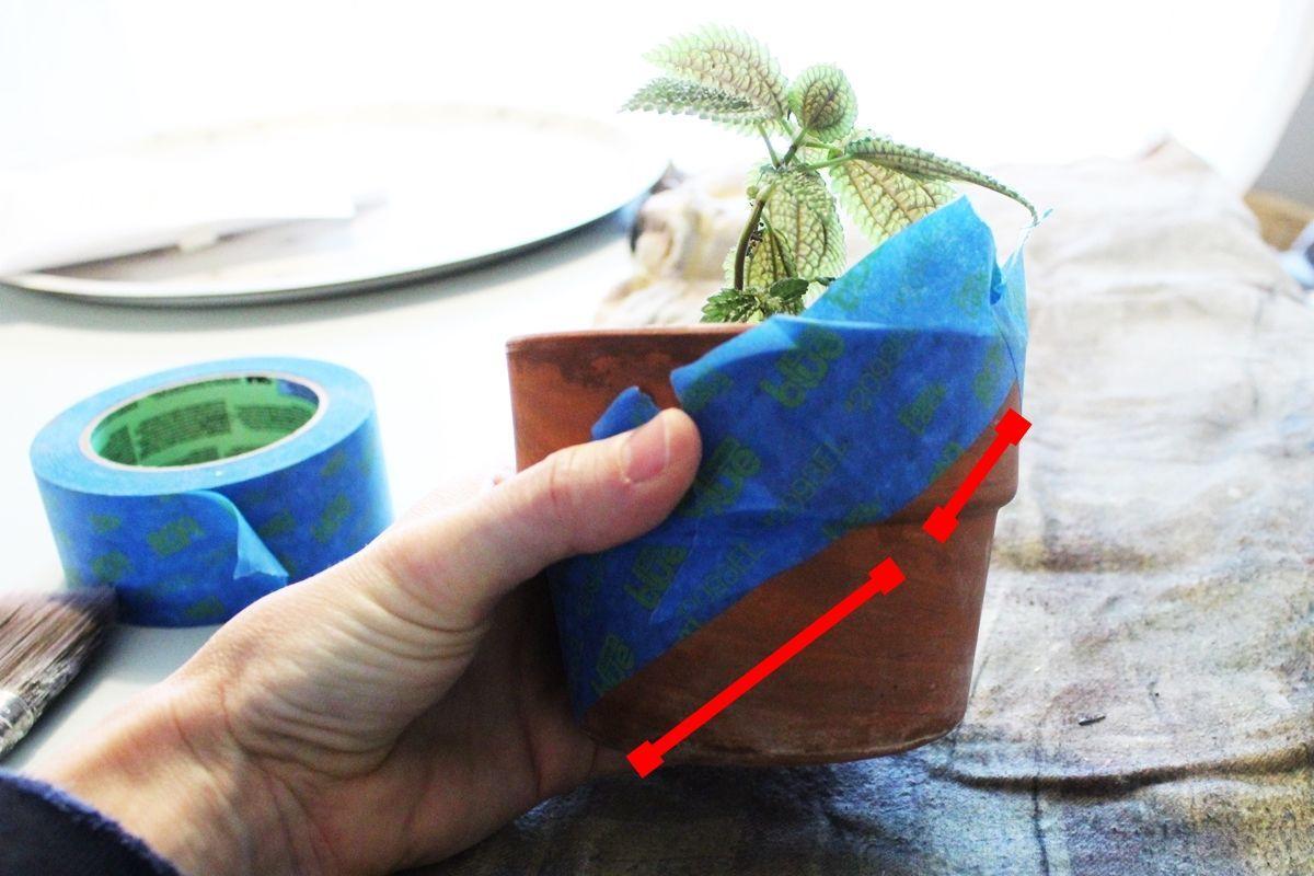 Geometric Painted Planter Variation