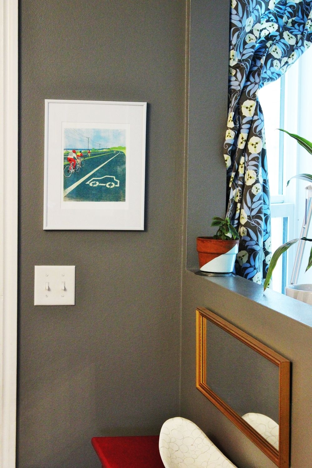 Geometric Painted Planter for Entryway