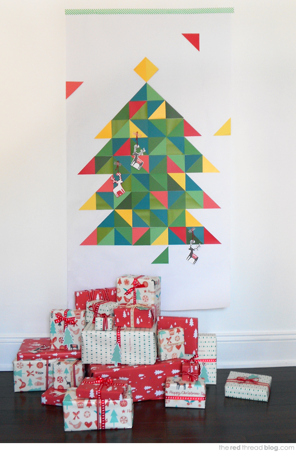 Geometric paint chimp Christmas tree
