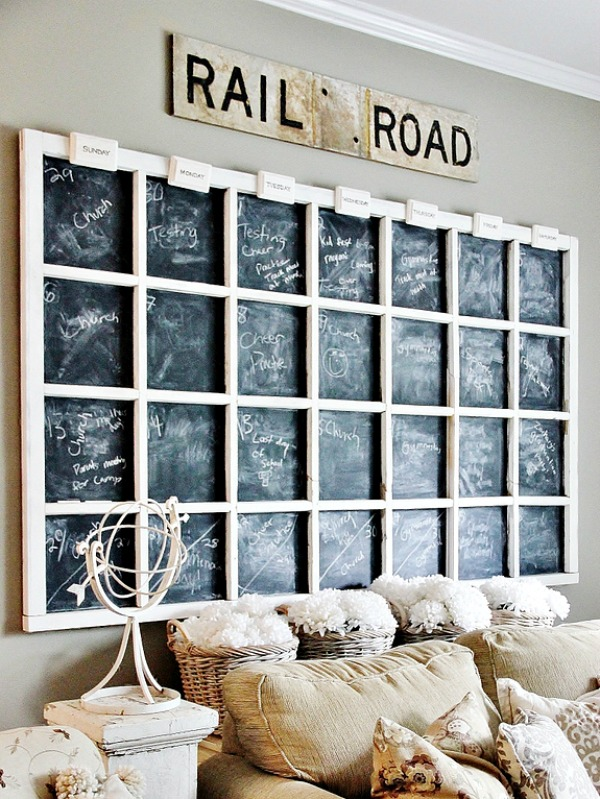 giant window frame chalkboard wall decor - Window Picture Frame