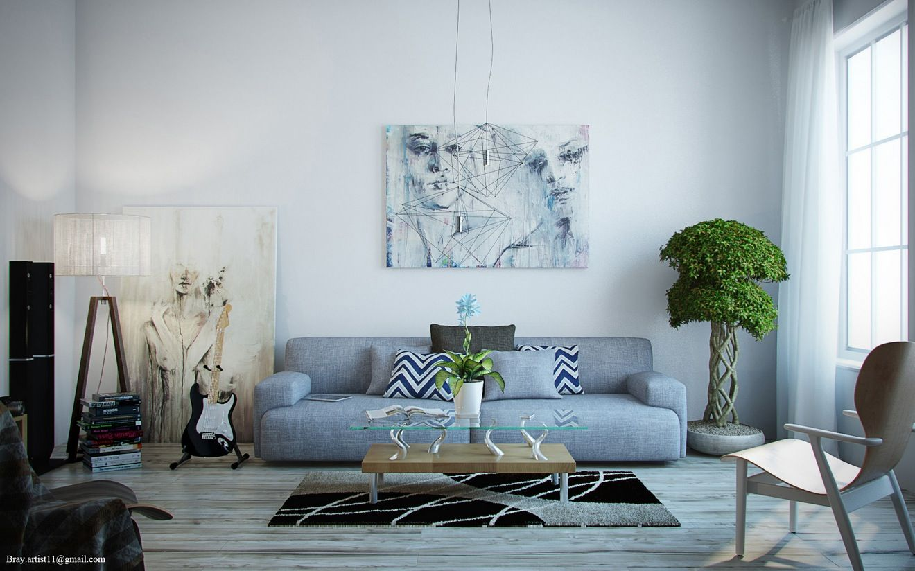 Blue Gray Living Room grey in home decor: passing trend or here to stay?