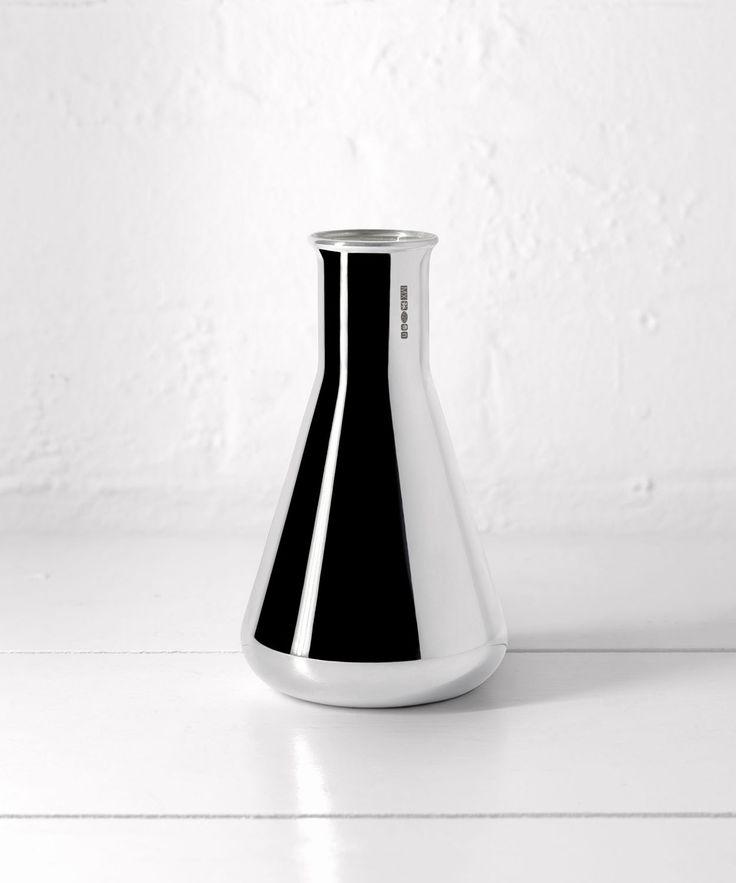 Handblown silver vase