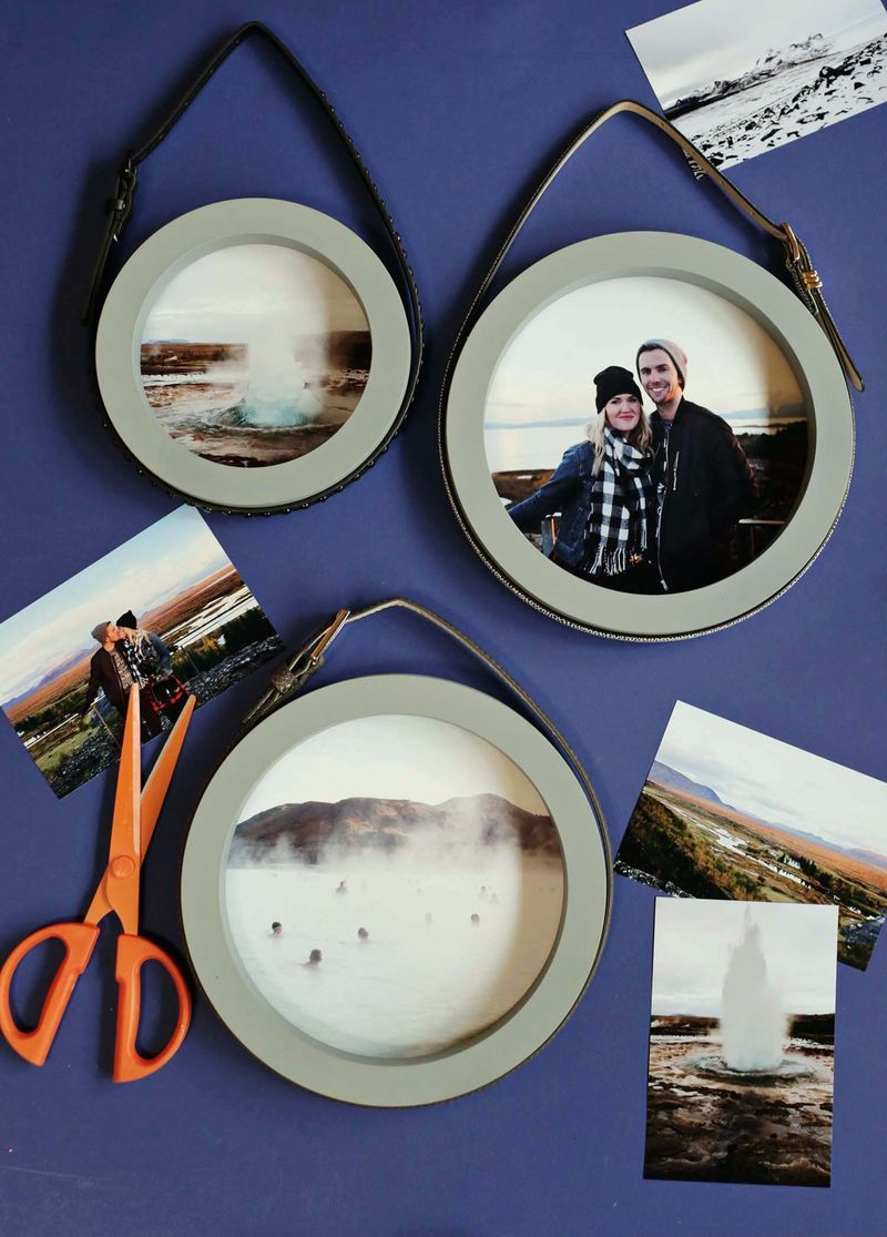 Handcrafted wall art - circle frames