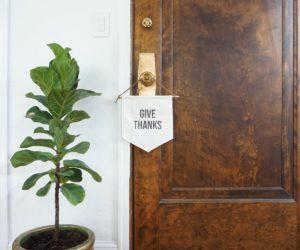 DIY Modern Thanksgiving Banners