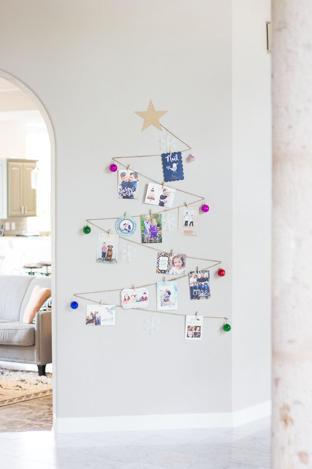 Holiday Christmas Tree Card Display